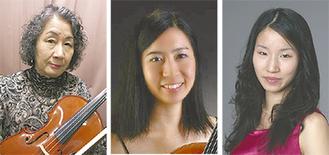 白尾永津子さん、佳奈さん、絵里さん(左から)