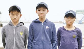 (右から)葉山選手、西村選手、宇田川選手の3選手