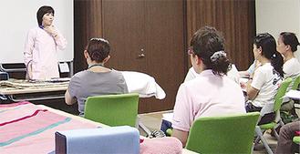 認定看護師が技術や知識を伝える研修