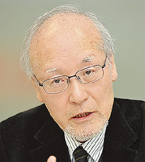 原彬久氏(朝日新聞提供)