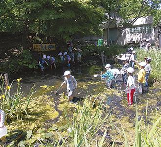 トンボ池を中心にかつての風景を再現