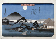 歌川広重、金沢八景を画く