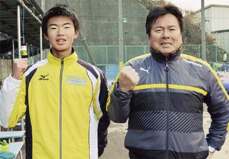 谷澤選手(左)と加藤監督