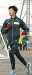 次戦に向けて校内で練習に励む谷澤選手