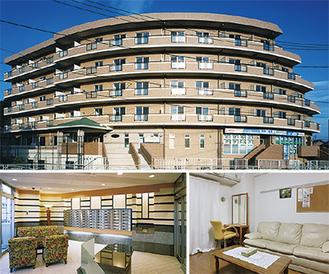 6階建で61室。清潔感あるフロントと室内