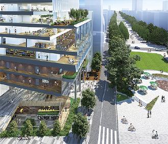 地域に開かれた都市型キャンパスのイメージ(関東学院提供)