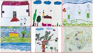 児童の絵300点展示