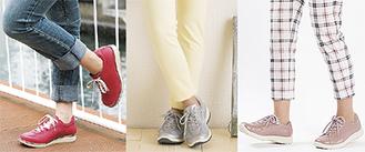 カラーが豊富でどんな服にも合わせやすい。左より24,840円、17,280円、23,760円(税込)