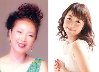 出演する(左から)安倍里葎子さんとふるみまやさん