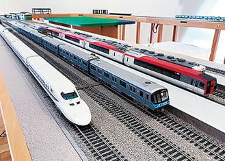 HOゲージ鉄道模型の運転会も