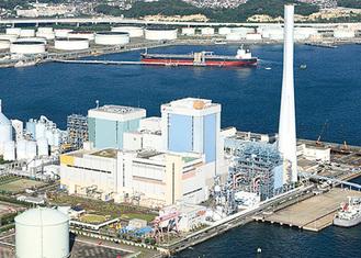 会場の磯子火力発電所