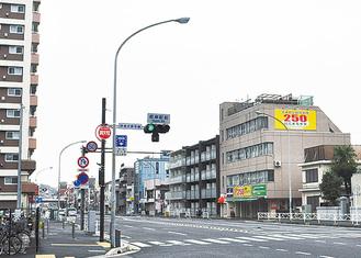 無電柱化済みの交差点(磯子区・根岸駅前)