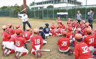 プロから野球のコツ学ぶ