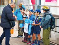 磯子区3駅で募金活動