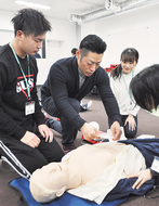 医学生が救急法を伝授