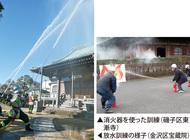 文化財で防火訓練