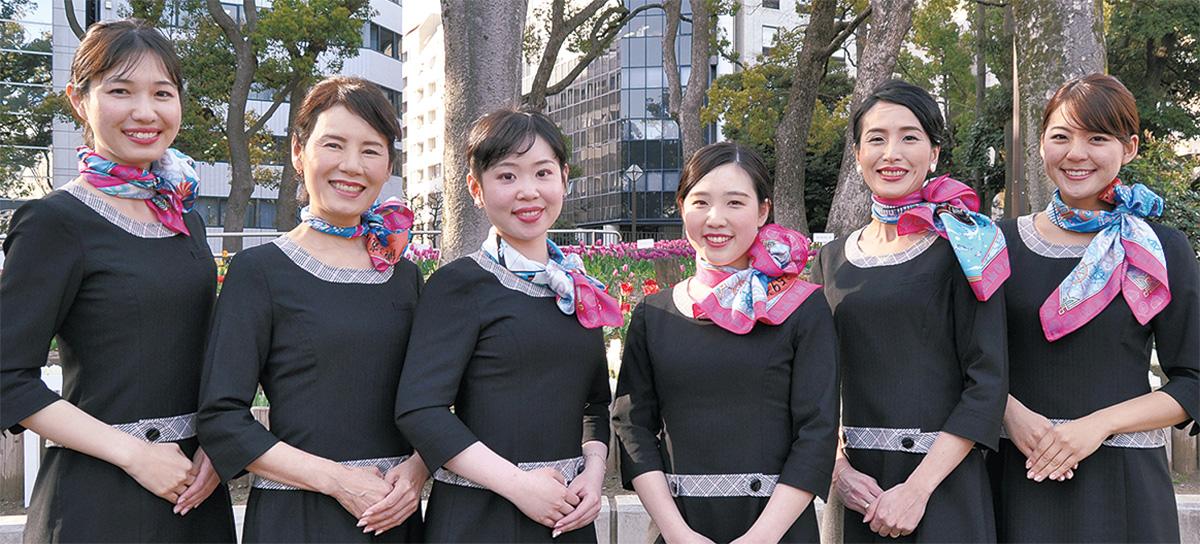 横浜スカーフ大使の6人