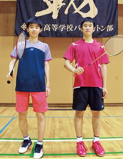 川端選手(左)と塙選手