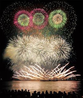 豪華な花火が彩った昨年の様子