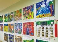 汐見台病院で作品展示