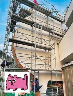 展示物と「ピンクの猫の小林さん」