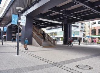 整備された駅前広場