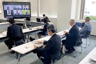 Web会議の様子/金沢区提供