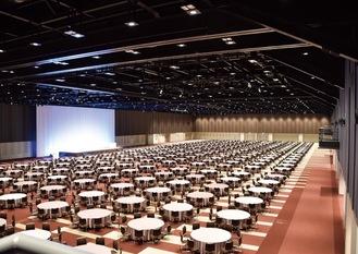 約6,300平方メートルを誇る多目的ホール
