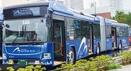 全長18mの連節バス運行