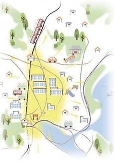 金沢区心部のイメージ