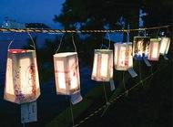 行灯飾る瀬戸秋月祭