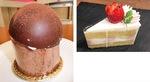 ストロベリーケーキ=写真上=とチョコシフォン=同左