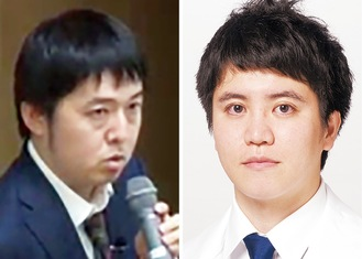 便秘の専門医が講演/三澤氏(左)・結束氏