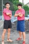 山下選手(左)と梅澤選手
