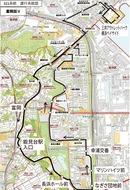 京急線駅と並木結ぶ