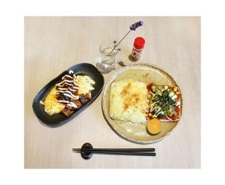 児童が考案した「2種類のピザ&オムレツセット〜金澤八味添え〜」