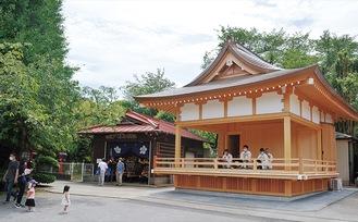 建て替えられた神楽殿