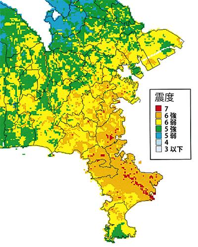 横浜でも震度7の危険