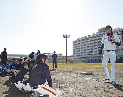 ベイ選手の野球教室