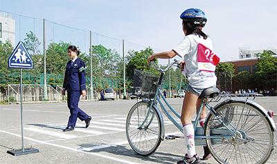 自転車のルール守って