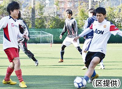 小学生のサッカー教室
