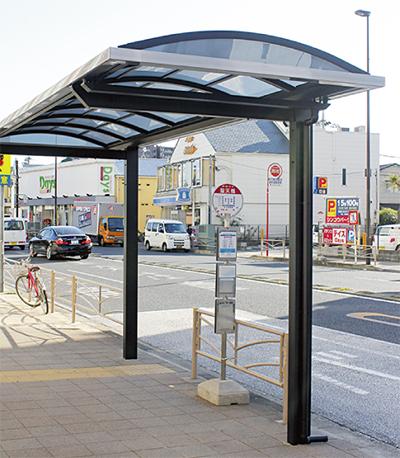 聖天橋バス停に上屋新設