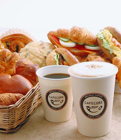 工場直売市場とカフェ