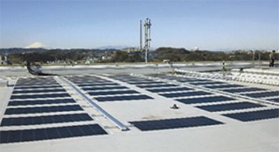 薄膜太陽電池で発電