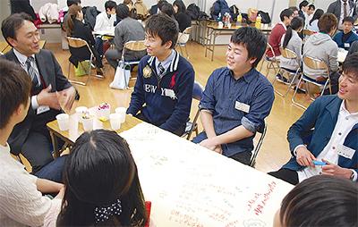 地元企業と学生が交流