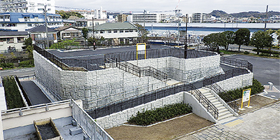 柳町に津波避難施設