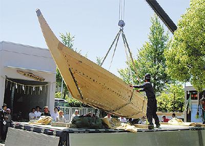 新造された和舟を紹介