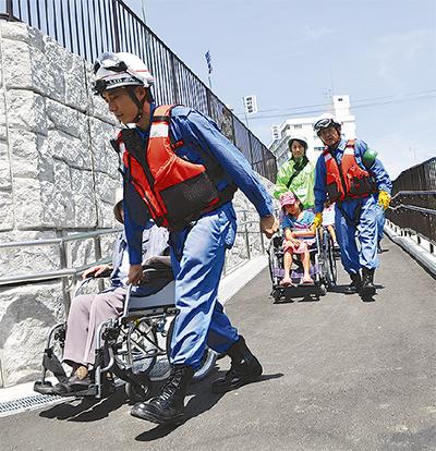 柳町で初の避難訓練