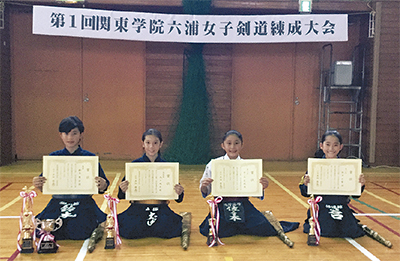 女子剣士の熱戦、初開催