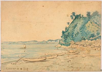 金沢文庫で水彩画 再発見